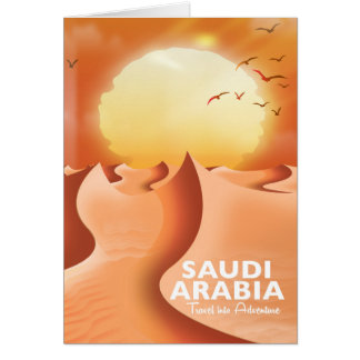 Saudi Arabia By Air travel poster Card