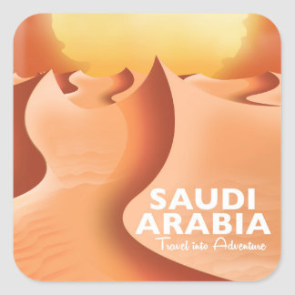 Saudi Arabia By Air travel poster Square Sticker
