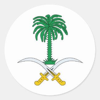 Saudi Arabia coat of arms Classic Round Sticker