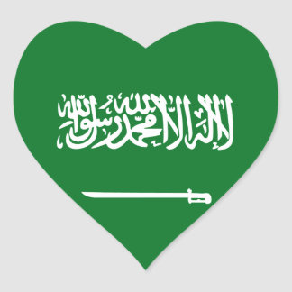 Saudi Arabia Flag Heart Sticker