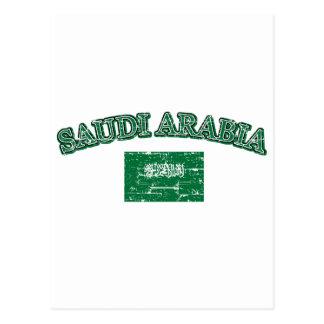 Saudi Arabia football design Postcard