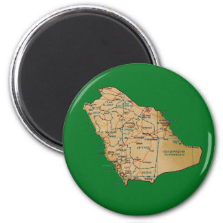 Saudi Arabia Map Magnet