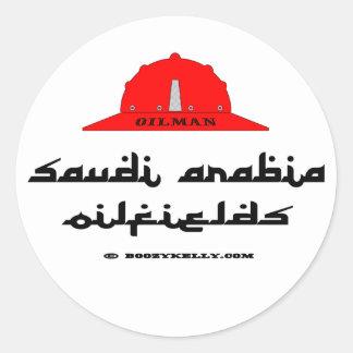 Saudi Arabia Oil Fields,Big Oil,Oil Classic Round Sticker