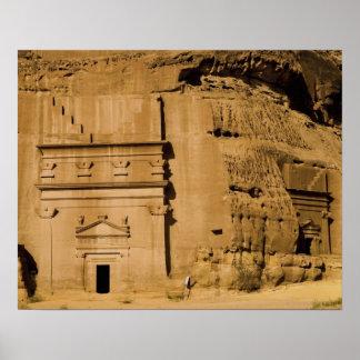 Saudi Arabia, site of Madain Saleh, ancient 3 Poster