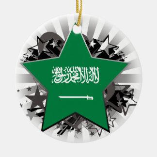 Saudi Arabia Star Ceramic Ornament