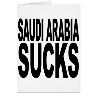 Saudi Arabia Sucks Card