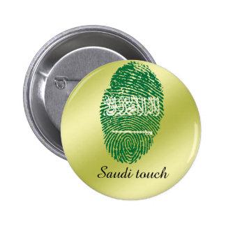 Saudi touch fingerprint flag 6 cm round badge