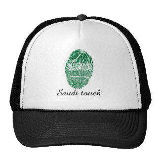 Saudi touch fingerprint flag cap