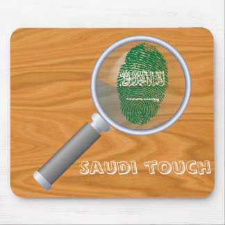 Saudi touch fingerprint flag mouse pad