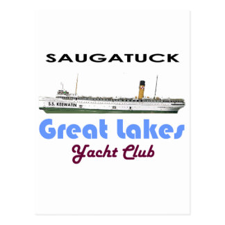 Saugatuck Douglas Michigan Yacht Club Great Lakes Postcard