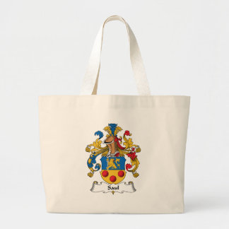 Saul Family Crest Large Tote Bag