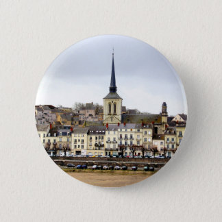 Saumur River Bank Scene Badge
