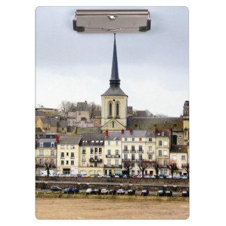Saumur River Bank Scene Clipboard