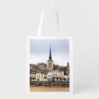 Saumur River Bank Scene Reusable Bag