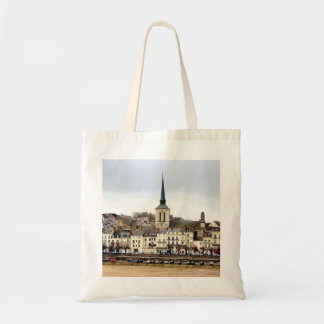 Saumur River Bank Scene Tote Bag