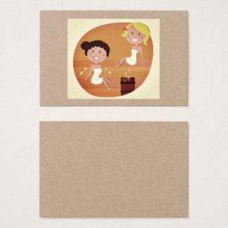 Sauna ladies : Original visit card