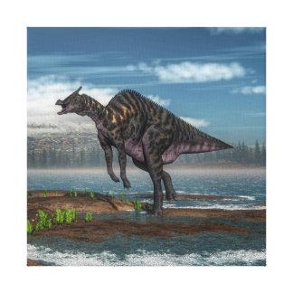 Saurolophus dinosaur - 3D render Canvas Print