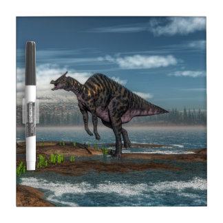 Saurolophus dinosaur - 3D render Dry Erase Board