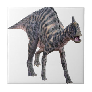 Saurolophus Dinosaur Walking on all Four Legs Ceramic Tile