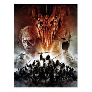 Sauron, Orcs, Witchking, and Ring Wraiths Postcard