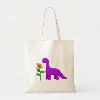 Sauropod and Sunflower Tote Bag