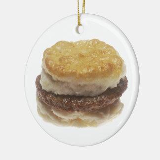 Sausage Biscuit Ceramic Ornament