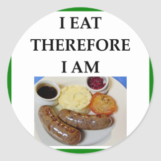 sausage classic round sticker
