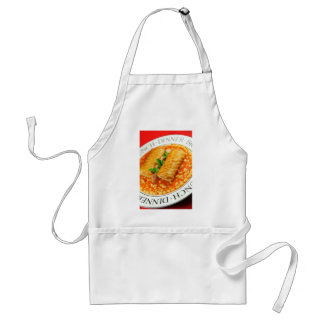 Sausage rolls and baked beans standard apron