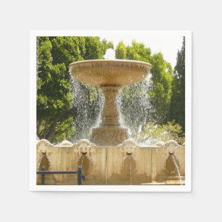 Sausalito Fountain California Travel Photography Disposable Napkin