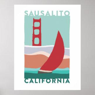 Sausalito Travel Poster