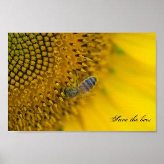Sauver et protéger les abeilles. poster