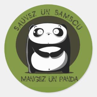 Sauvez un bambou round sticker
