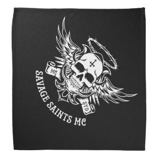 Savage Saints MC Bandana
