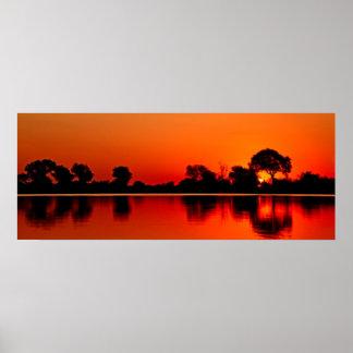 Savana sunset poster