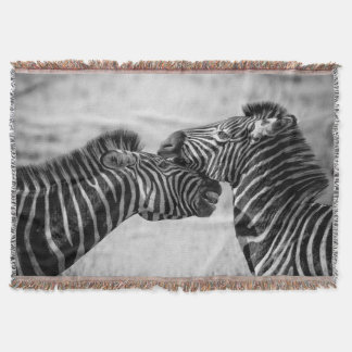 Savanna zebras throw blanket