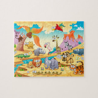 Savannah animals family jigsaw puzzle
