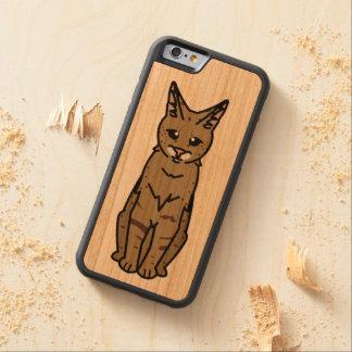 Savannah Cat Cartoon Cherry iPhone 6 Bumper