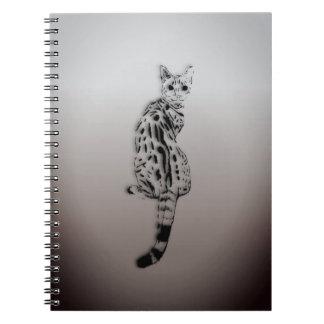 Savannah Cat Caught by Surprise Notebook