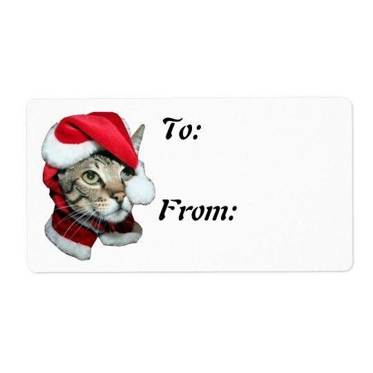 Savannah Cat Christmas Tag To From