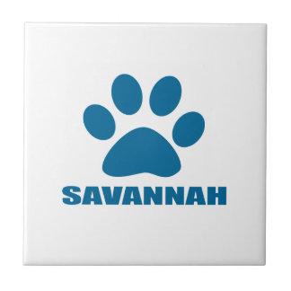 SAVANNAH CAT DESIGNS CERAMIC TILE