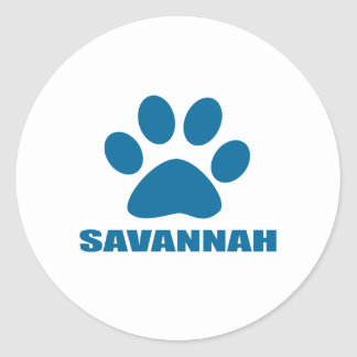 SAVANNAH CAT DESIGNS CLASSIC ROUND STICKER