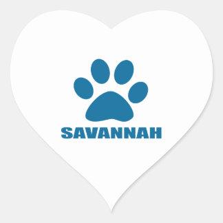 SAVANNAH CAT DESIGNS HEART STICKER