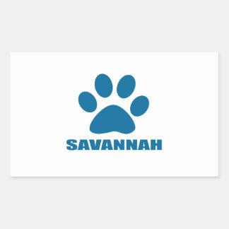 SAVANNAH CAT DESIGNS RECTANGULAR STICKER