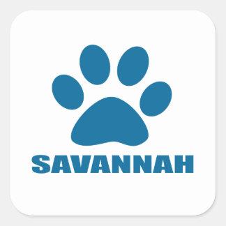 SAVANNAH CAT DESIGNS SQUARE STICKER