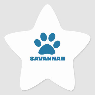 SAVANNAH CAT DESIGNS STAR STICKER