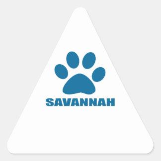 SAVANNAH CAT DESIGNS TRIANGLE STICKER