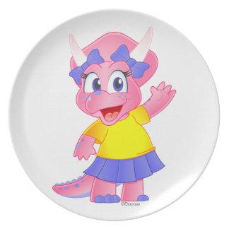 Savannah Dino Cartoon Character Plate