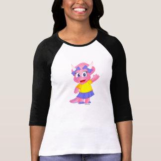 Savannah Dino Cartoon on Women's Raglan T-Shirt