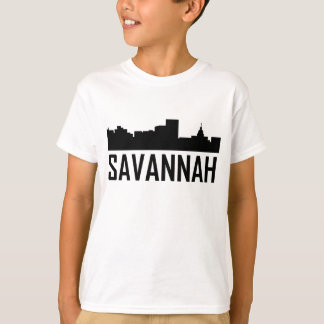 Savannah Georgia City Skyline T-Shirt