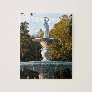 Savannah Georgia Forsyth Park Fountain Jigsaw Puzzle